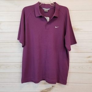 NWT Men's NIke Active purple polo shirt size large